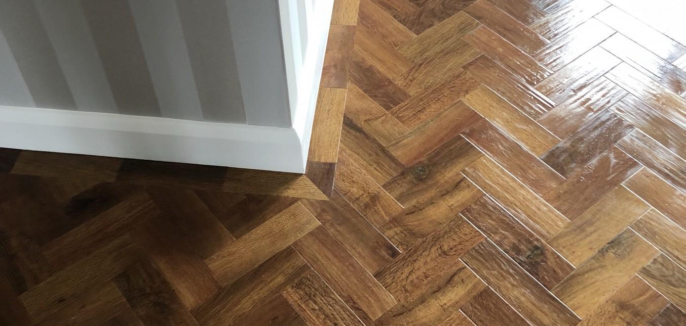 Karndean herringbone floor Nuneaton