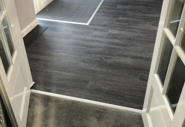 L v t flooring fitted in a hall