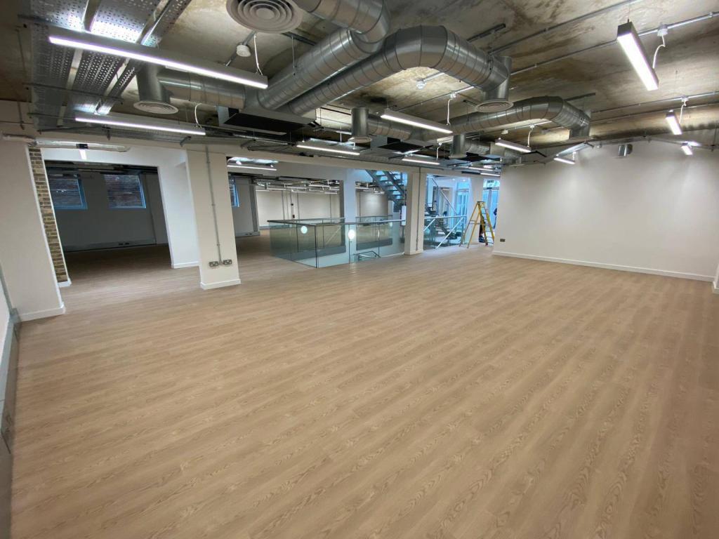 large vinyl tile area